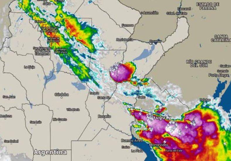 Un nuevo alerta por tormentas se renovó para la región