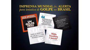 Dilma publicó en su cuenta de Facebook las tapas de las revistas internacionales que hablan del golpe blando. Fuente Facebook Dilma Rousseff.