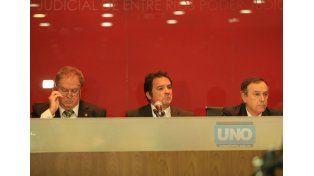 Los jueces que deberán decidir sobre la responsabilidad del acusado. (Foto UNO)