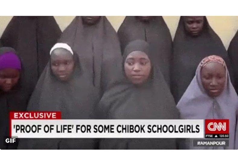 Esta semana difundieron un video donde puede verse a 15 de las  219  niñas secuestradas en Chibok