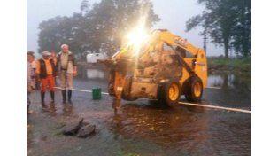 Córdoba: rompen la ruta nacional 19 por las inundaciones