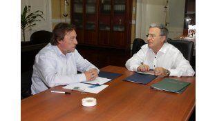 Varisco y Benedetto firmaron hoy un acuerdo en Casa de Gobierno. (DGIP)
