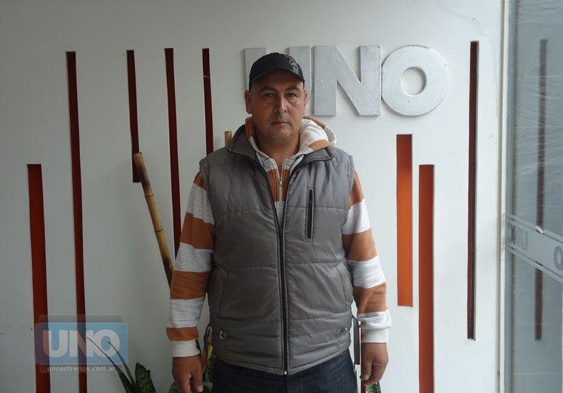 Néstor Netto en la Redacción de UNO.