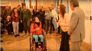 #Video El mal momento de María Eugenia Vidal en un acto