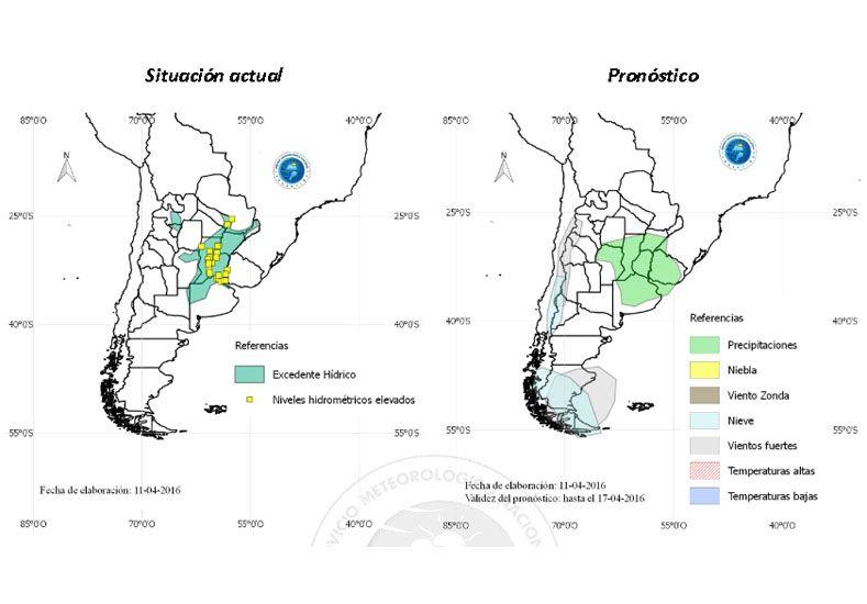 LLuvias, lloviznas y tormentas continuarán durante toda la semana en el Litoral