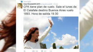 Cristina Kirchner viajará el lunes desde El Calafate a la Ciudad de Buenos Aires