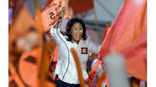 A las urnas. Keiko durante la agitada campaña electoral.