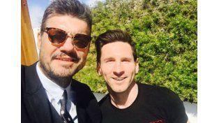 Tinelli se reunió con Messi