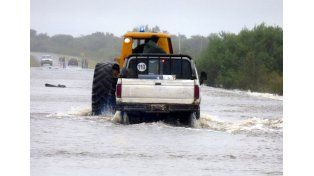 Fenómeno inédito. Hubo localidades que se inundaron por primera vez.
