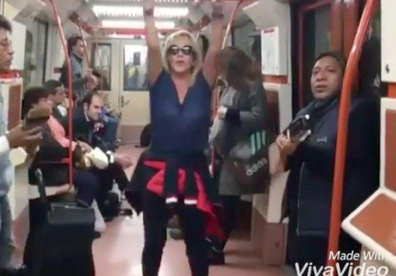 Solita Silveyra bailó en el metro de Madrid