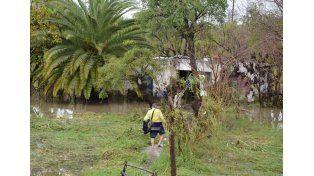 Una imagen de la inundación en La Paz. (Foto: Télam)
