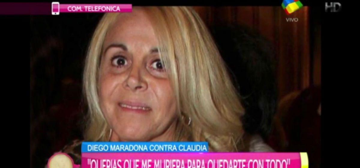 Claudia Villafañe quedó sobresída en la causa por las pertenencias de Diego Maradona