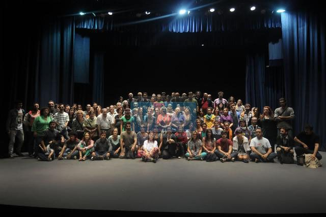 Los artistas se reunieron en el Centro Cultural Provincial. Foto UNO/ Juan Baialardo.