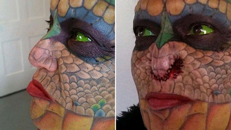 Un hombre se sometió a una serie de dolorosas operaciones para transformarse en dragón