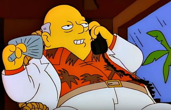 Una escena de Los Simpsons y su referencia a los paraísos fiscales.