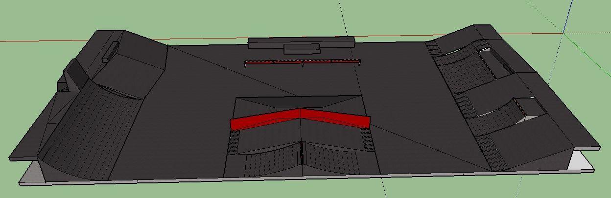 El proyecto para reformar la plaza de skate en La Histórica.
