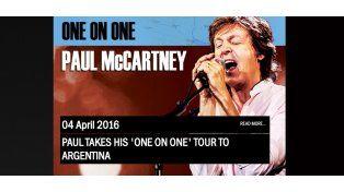 Paul McCartney confirmó que tocará en Argentina