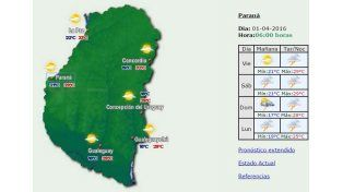 Jornada con probabilidad chaparrones y tormentas en la provincia