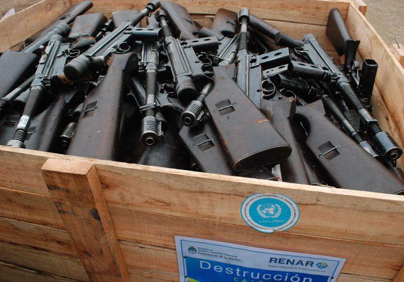 Ocho personas mueren por día en el país por el uso de armas de fuego