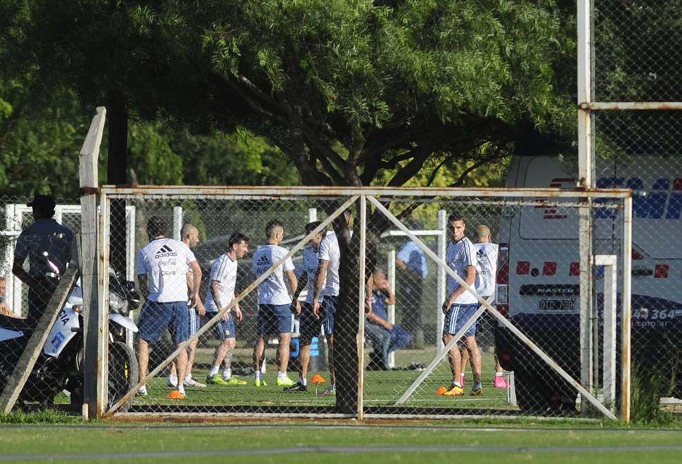 Entrenamiento de la selección nacional. Foto: Télam
