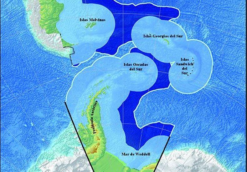 Se presentó nuevo límite exterior de la plataforma continental argentina