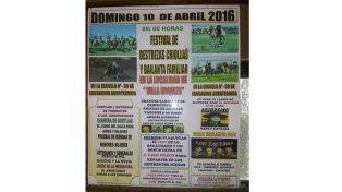 Harán un festival de destrezas criollas y bailanta familiar en Villa Urquiza