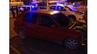 El Golf fue secuestrado anoche en avenida Ramírez. Foto fuente Policía de Entre Ríos.