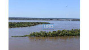 Fuerte crecida del Paraná y el Salado. Foto UNO/Archivo