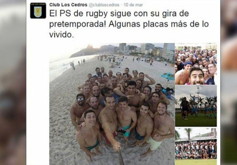 Captura del Twitter del Club Los Cedros . La cuenta ahora fue eliminada de la red social.