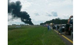 Un muerto en una colisión entre camiones, en la autovía Artigas
