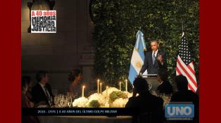 Cuarenta años, la visita de Obama y la Memoria en disputa