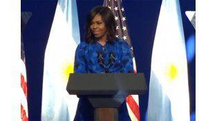 Michelle Obama a las argentinas: Sean agentes de cambio mundial y háganse oír