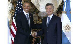 Obama y Macri en la Casa Rosada. Foto: Captura de video.