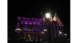 La Casa Rosada está lista para recibir a Barack Obama que se reunirá con Mauricio Macri. Foto: Télam