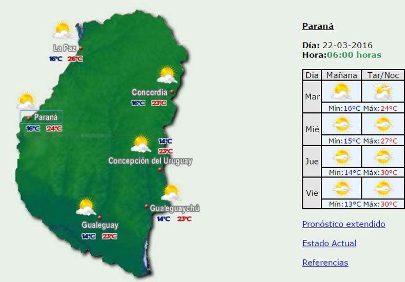 Jornada con baja probabilidad de lluvias y una máxima de 24 grados