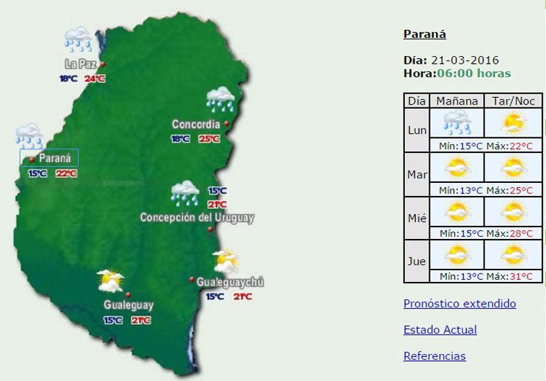 Jornada con probabilidad de lluvias y una máxima de 22 grados