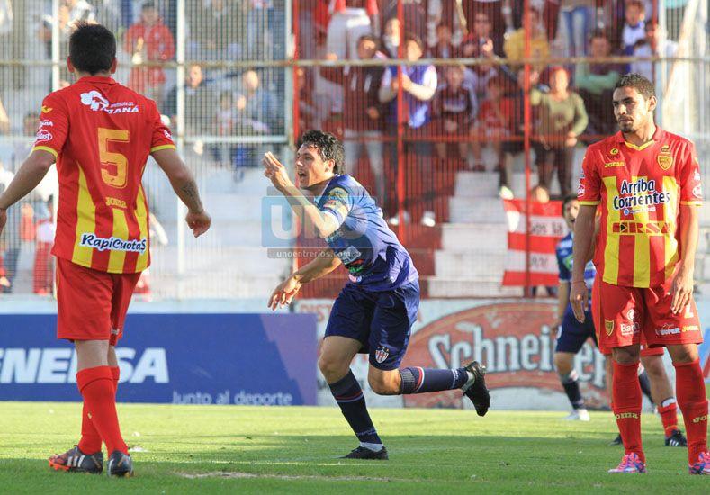 Atlético Paraná necesita que el festejo de Martín Galli se reitere  (Foto UNO/Diego Arias)