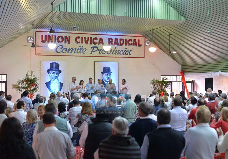 Congresales. La asamblea radical tuvo más de 200 participantes. Se emitió un documento crítico.  (Foto UNO/Juan Manuel Hernández)