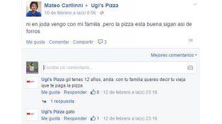 La pizzería porteña  que maltrata a los clientes en las redes sociales ya es un clásico viral