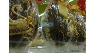 Elevados. Los huevos de Pascua este año cuestan entre 30 y 50 pesos más caros que en 2015. (Foto UNO/Pablo Felizia)