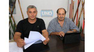 Los normalizadores del Suoyem presentaron la propuesta de aumento salarial para los municipales de Paraná. Foto UNO/ Diego Arias.