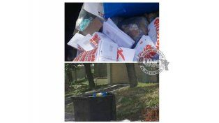 Resúmenes de tarjetas, en la basura