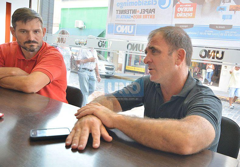 Reggiardo y Furlán manifestaron que pretenden darle más orden al equipo.  Foto UNO/Juan Manuel Hernández