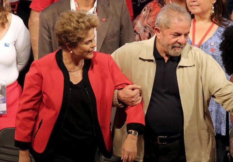 Rousseff y Lula. Foto: AP