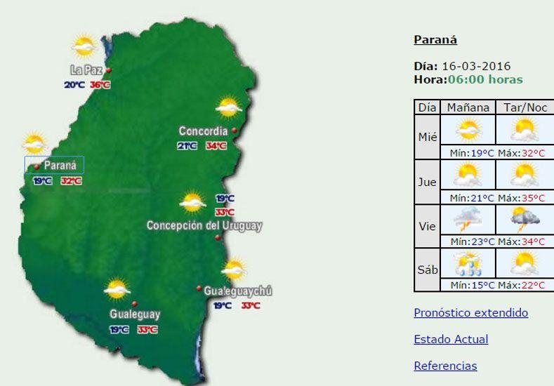 Jornada con una máxima de 32 grados y elevada sensación térmica en la provincia
