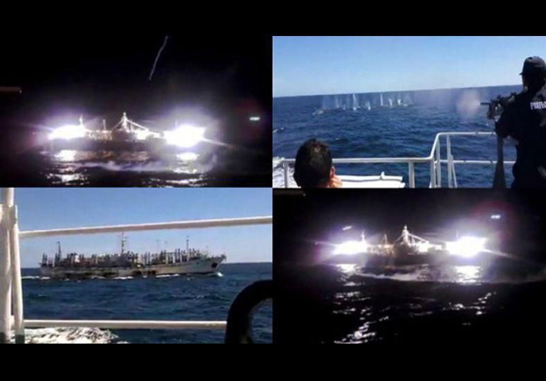 Se hundió un barco pesquero chino tiroteado por Prefectura