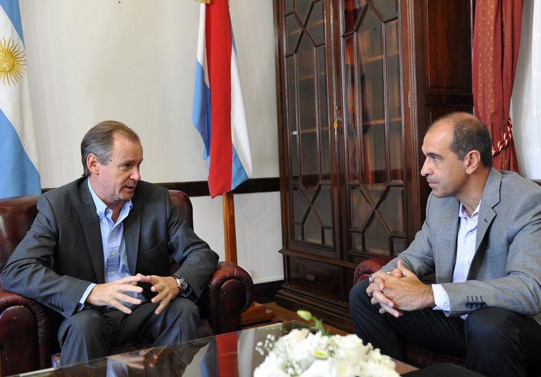 Eje. Bordet y Muzachiodi dialogaron sobre el sistema eléctrico.