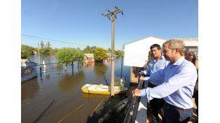 El ministro remarcó las consecuencias del calentamiento global.Foto Ministerio del Interior.
