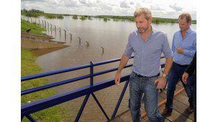 El ministro ya estuvo en la provincia recorriendo las zonas afectadas por la creciente del río Uruguay en Concordia.