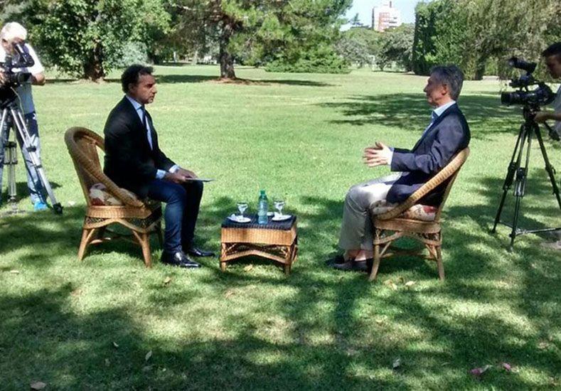 Macri concedió una entrevista al programa de Luis Majul